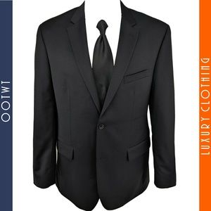JOS A BANK Mens 42L Executive Fit Black Blazer